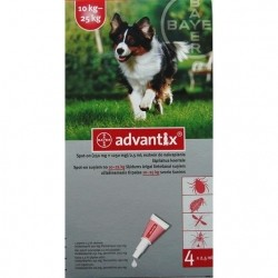 BAYER ADVANTIX SPOT ON  10-25kg 2,5ml x 4 pipety