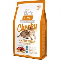 Brit Care Cat Cheeky I'm Living Outdoor - karma dla kota z dziczyzną z ryżem 2kg