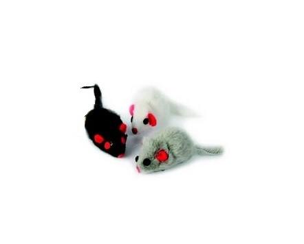Dingo myszka, zabawka dla kota z futerkiem i grzechotką 1szt Tukan24